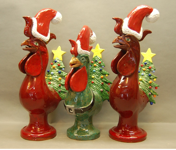 Christmas Roosters